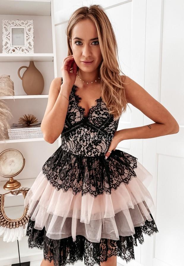 Sukienka Tiul Rubinetta Black&Beige