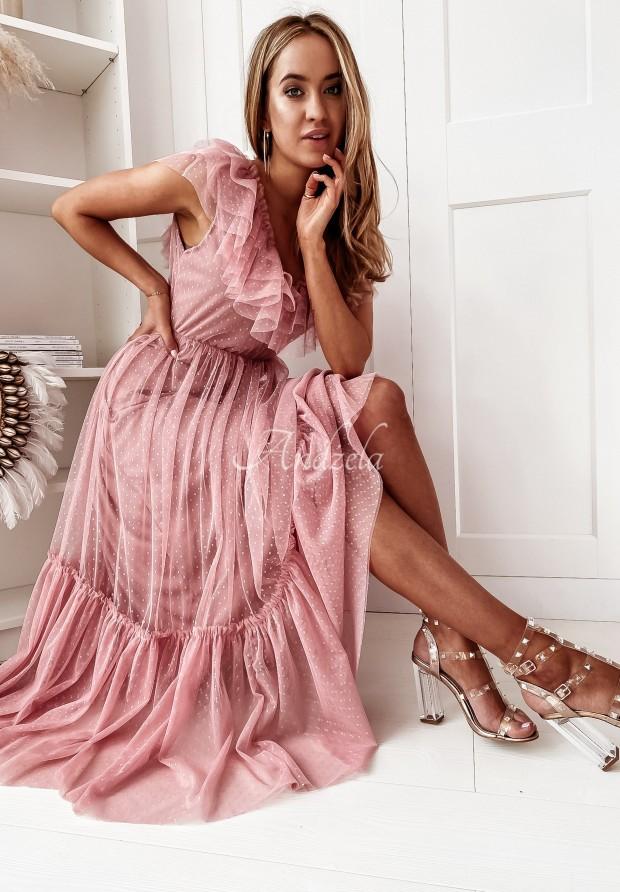 Sukienka Tiul Vallencia Dots Pink