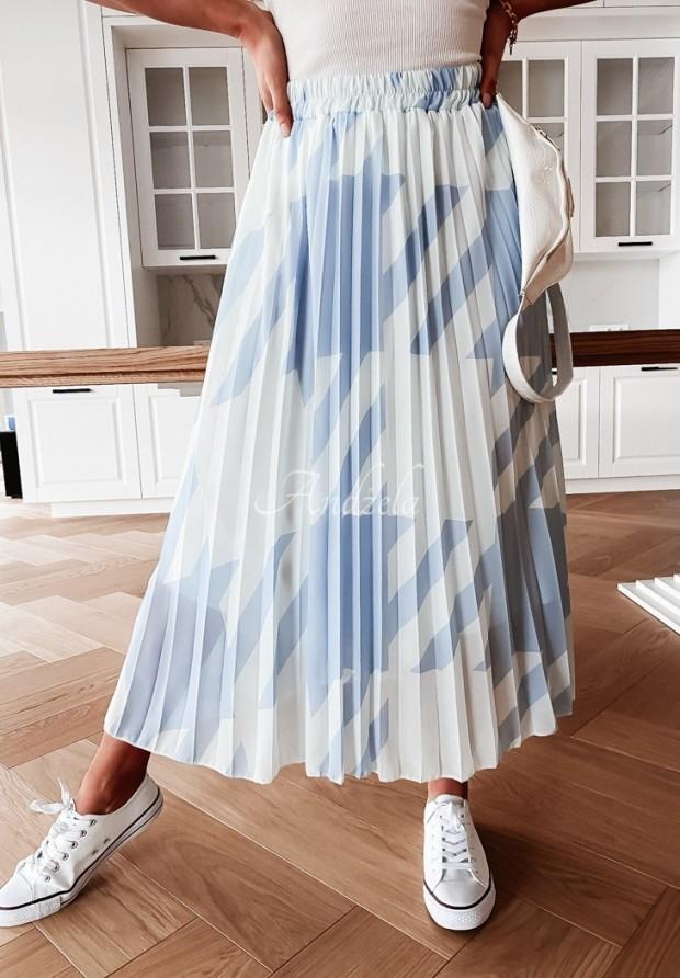 Spódnica Plisa Betty White&Blue