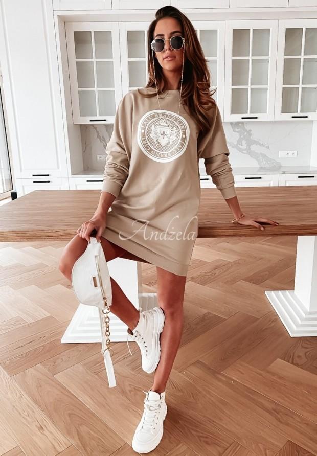 Bluza Sukienka Lalu Brand Nude