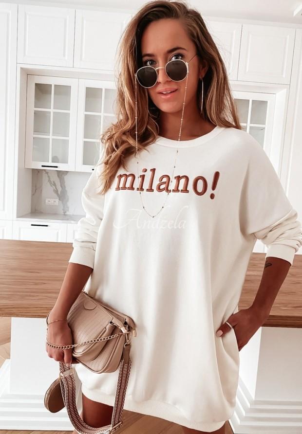 Bluza Oversize Milano Ecru