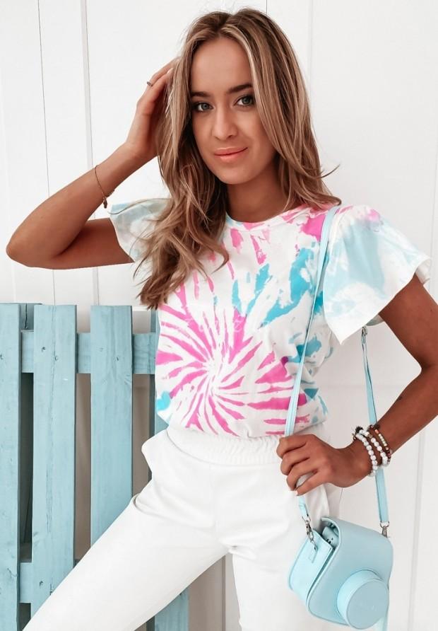 Bluzka Reyna Tie Dye  Blue&Pink