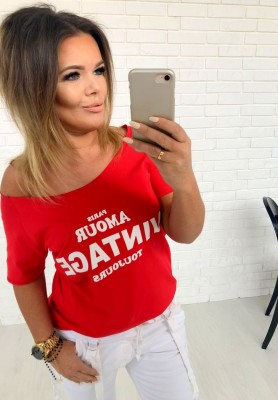 T-shirt Vintage Red
