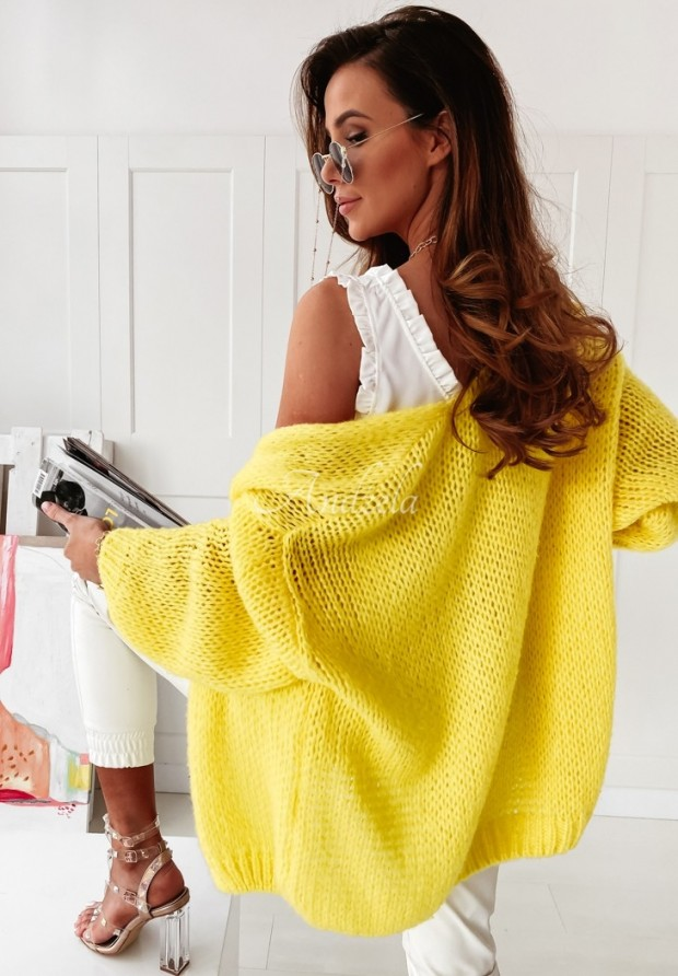 Sweter Kardigan Selma Yellow
