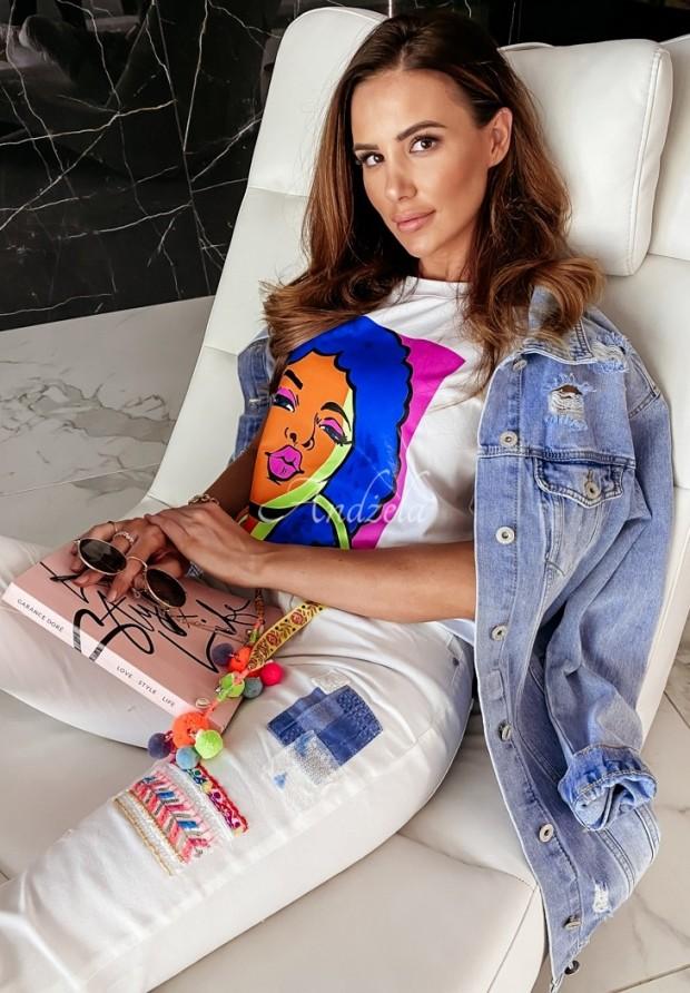 T-shirt Pop Art White