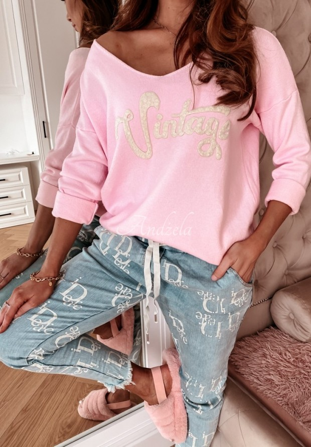 Sweter Vintage Pink