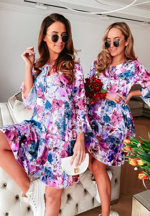 Sukienka Lomira Blue&Pink