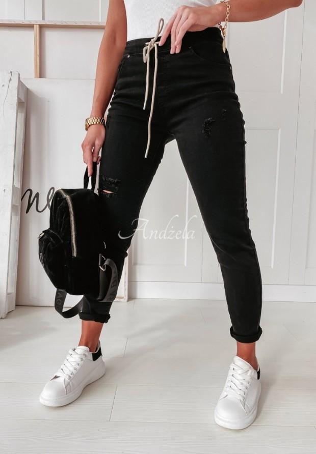 Spodnie Afiya Jeans Black
