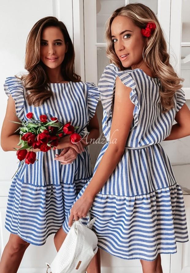 Sukienka Strips Jurta Blue