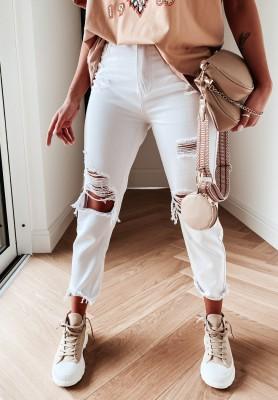 Spodnie Jeans Aderia White