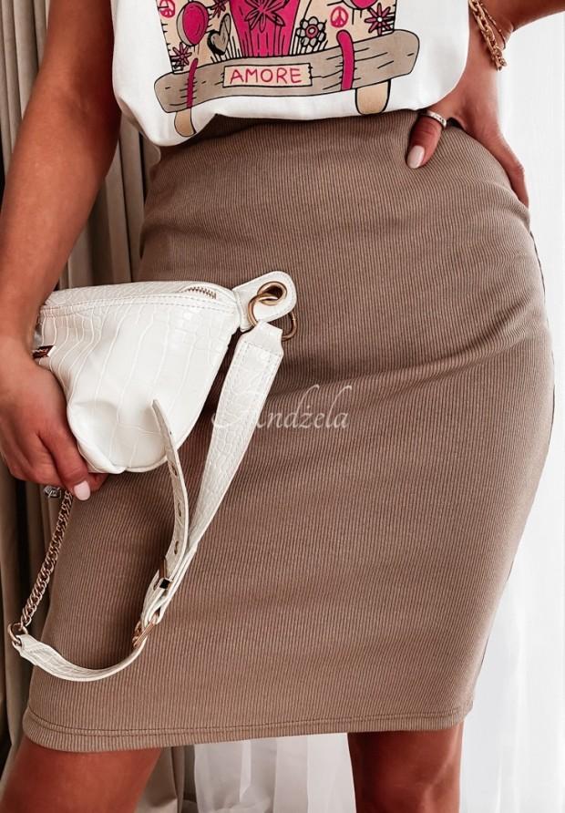 Spódnica Slim Skirt Mokka