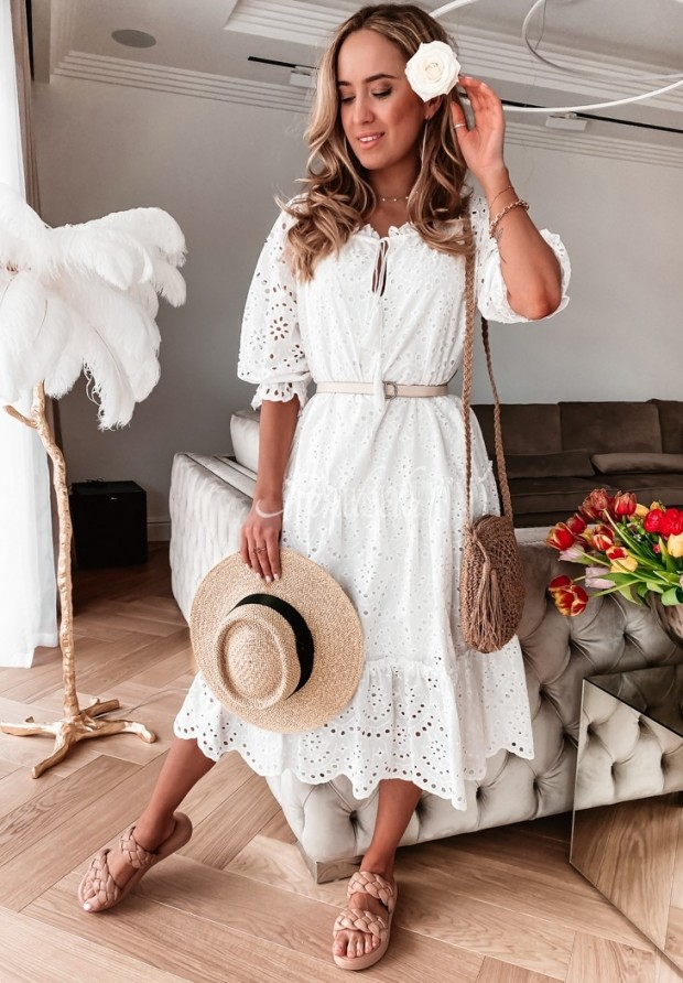 Sukienka Boho Nerium White