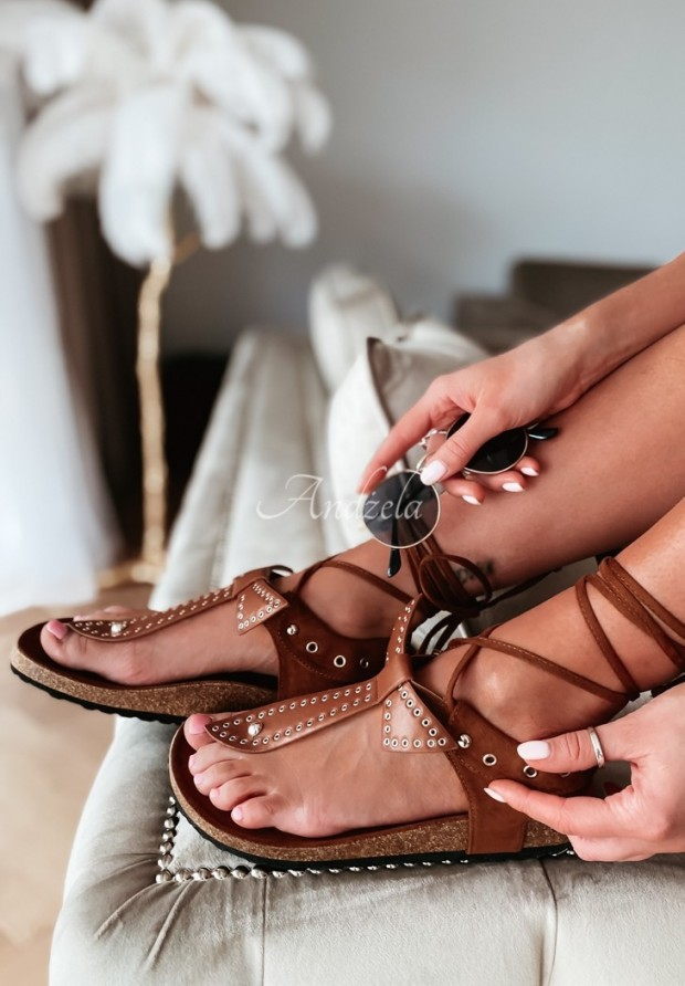 Sandałki Negri Camel