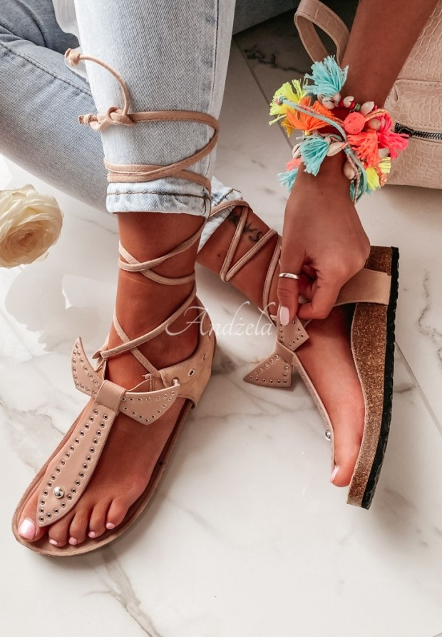 Sandałki Negri Beige