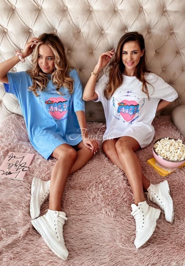 T-shirt Oversize Angels Blue