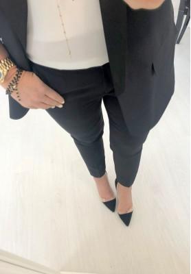 Spodnie Cygaretki Premium Czarne