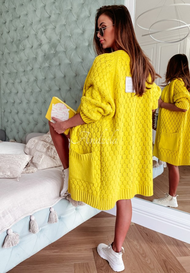 Sweter Kardigan Cocomore Coridon Yellow