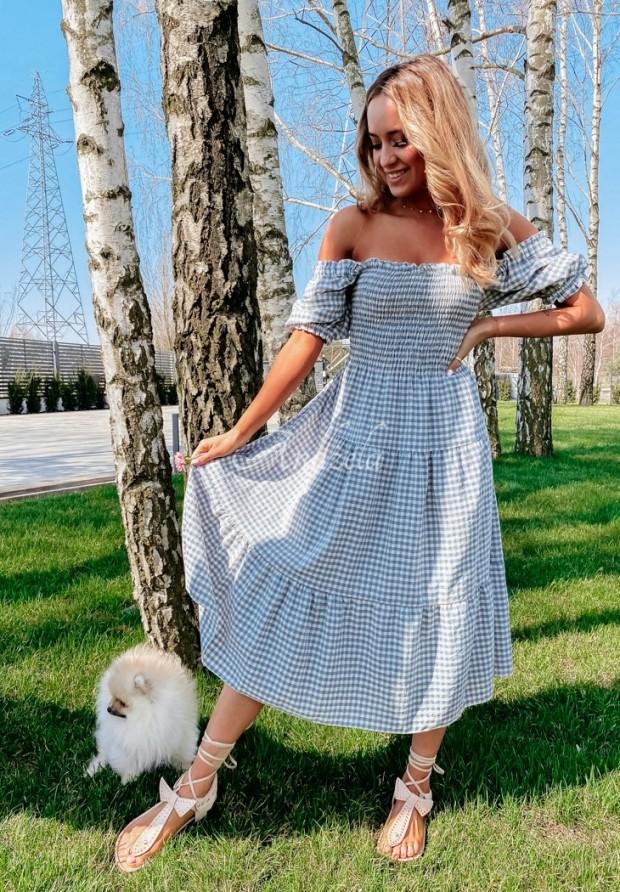 Sukienka Krata Lativa Blue