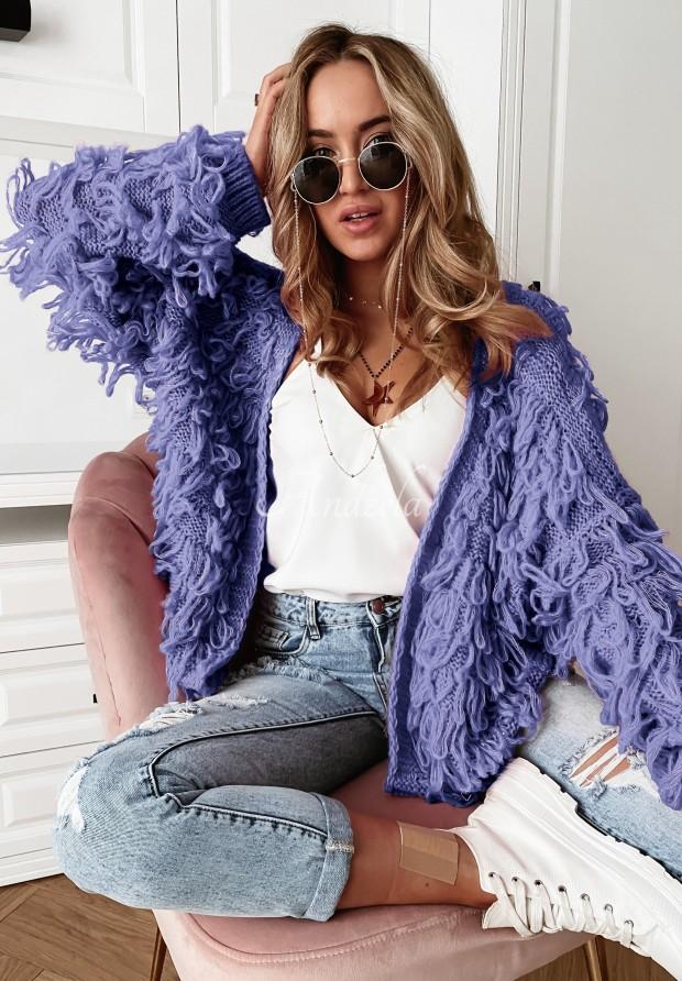 Sweter Kardigan Fringe Lavender