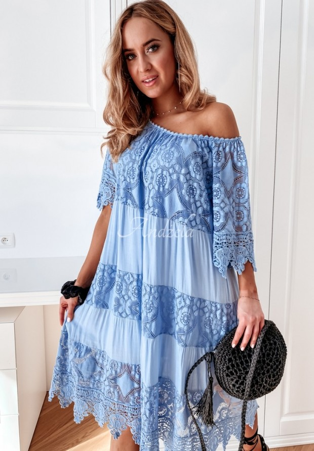 Sukienka Boho Inilla Blue