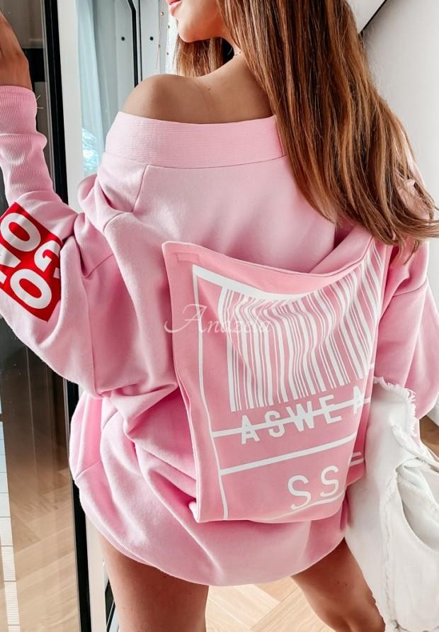 Bluza Oversize MC Social Pink