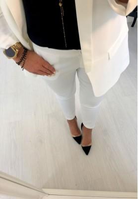 Spodnie Cygaretki Premium Ecru