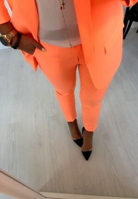 Spodnie Cygaretki Premium Orange