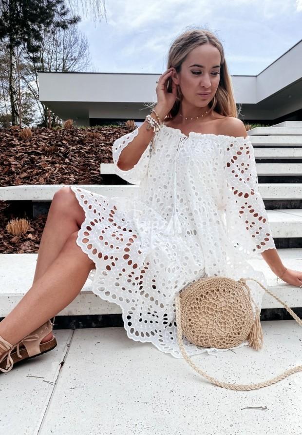 Sukienka Hiszpanka Sigma Ecru