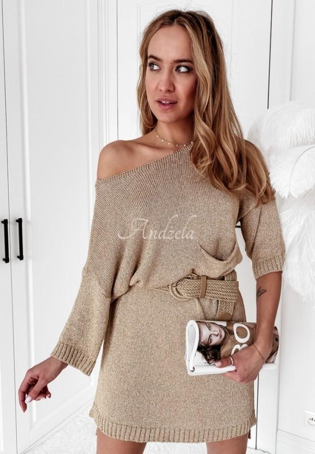 Sweter Sukienka Katia Gold