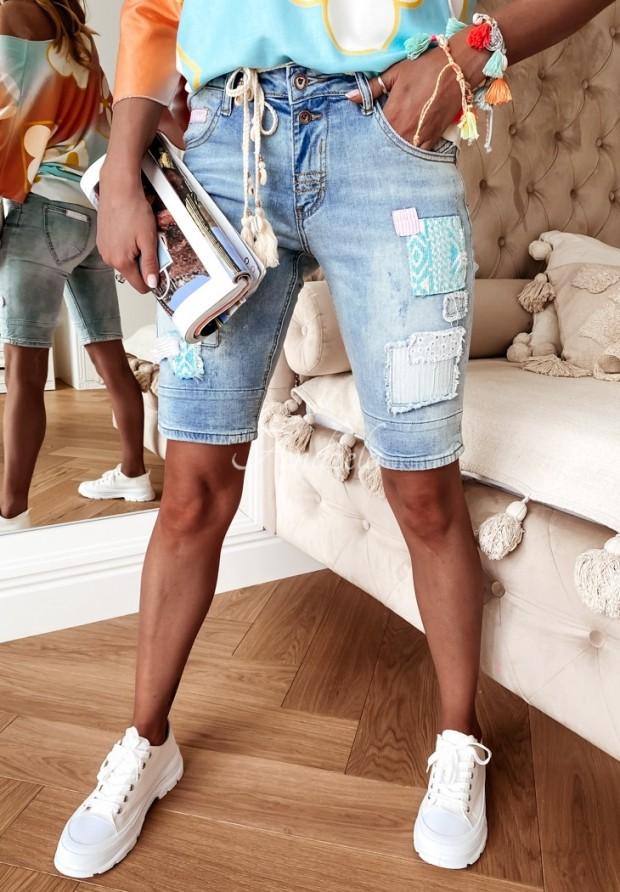 Spodenki Jeans Stripe