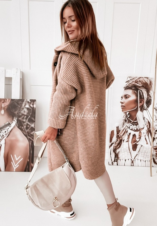 Sweter Kardigan Giorgio Camel
