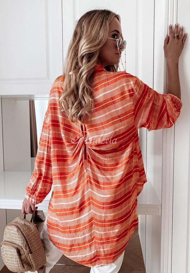 Koszula Tunika Krata Veridia Orange