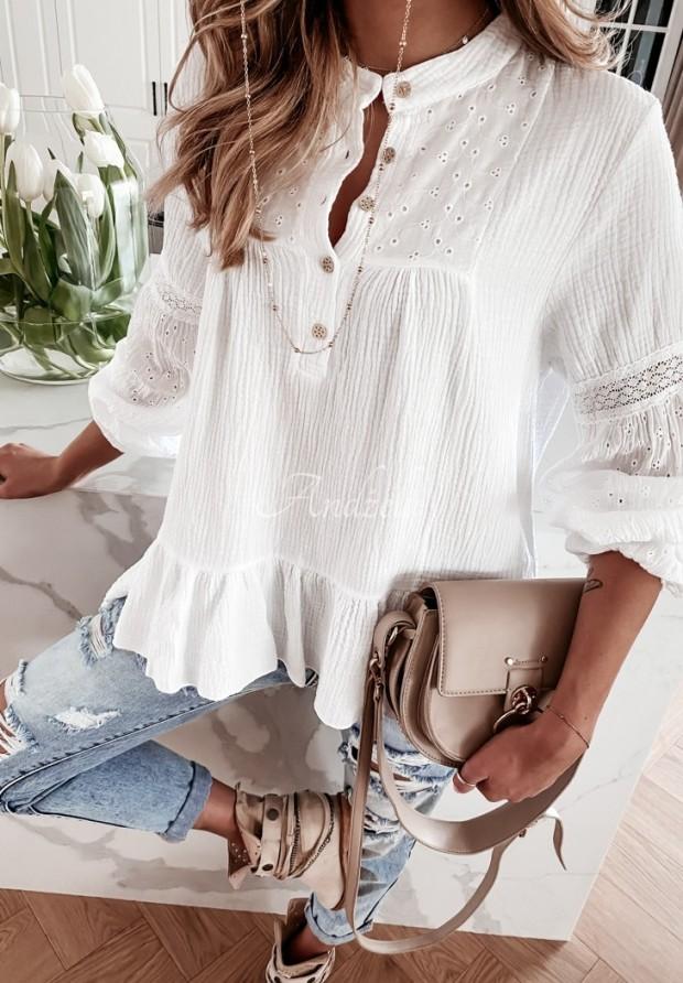 Koszula Tunika Boho Draconis White
