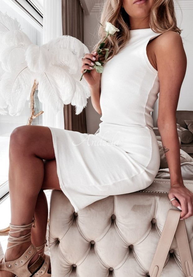 Sukienka Anitha Slim Ecru