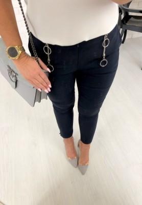 5073 Spodnie Cygaretki Holly Granat