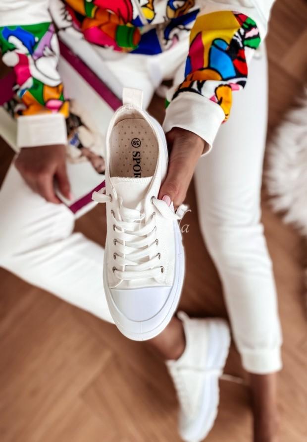 Trampki Trendy Short White