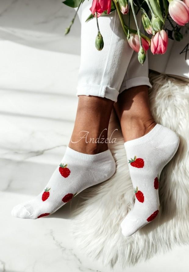 Skarpetki Strawberry White