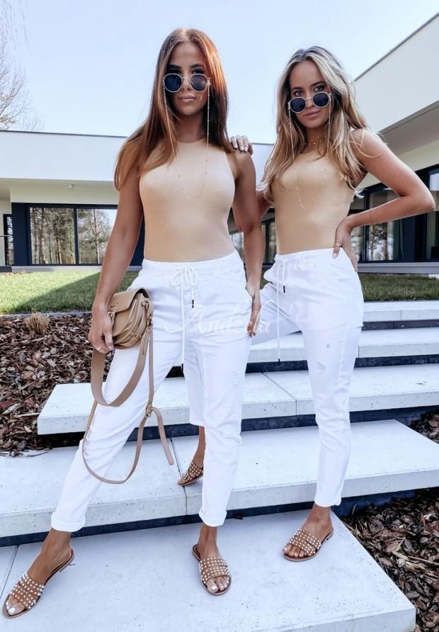 Spodnie Jeans Rossa White