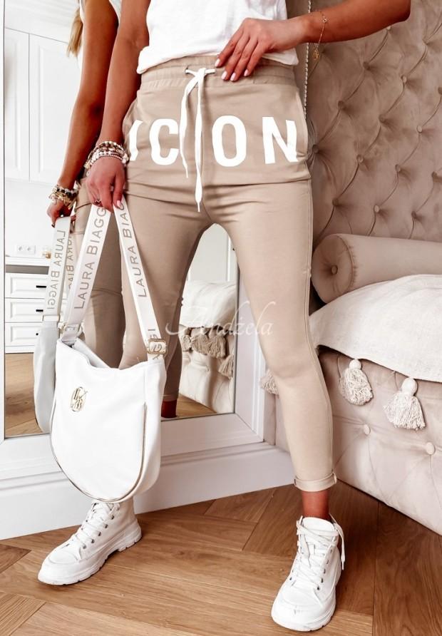 Spodnie Dresowe Icon Beige