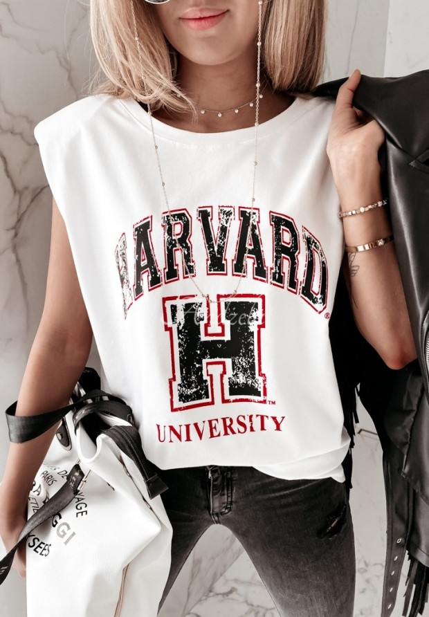 Bluzka Harvard White