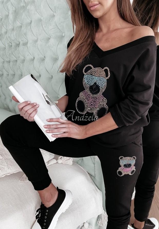 Spodnie Dresowe Teddy Crystal Black