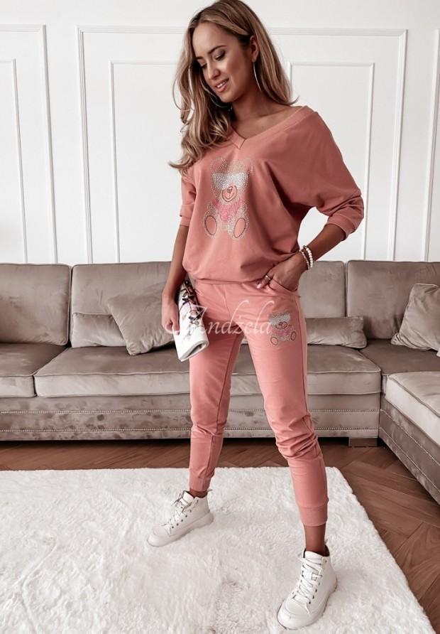 Spodnie Dresowe Teddy Crystal Peach