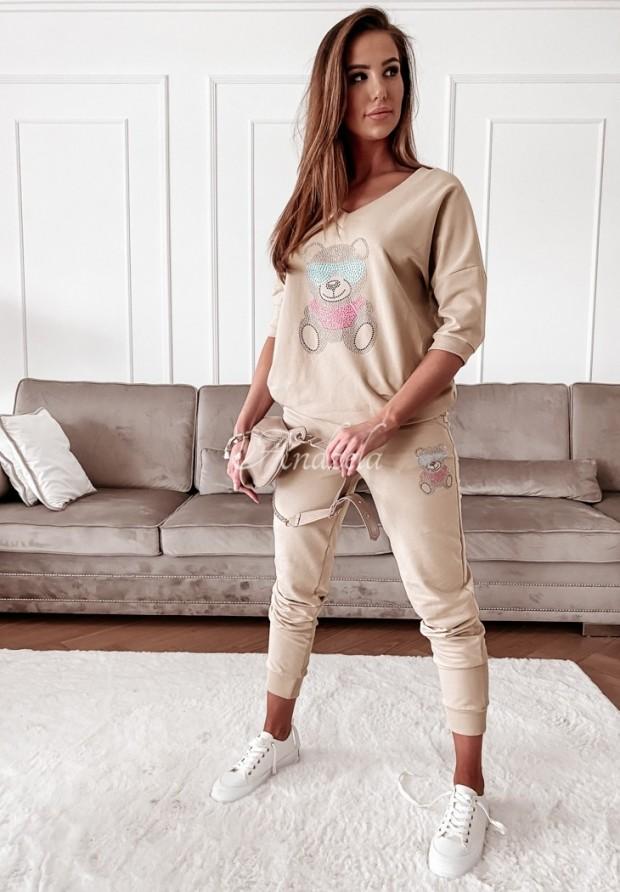 Spodnie Dresowe Teddy Crystal Beige