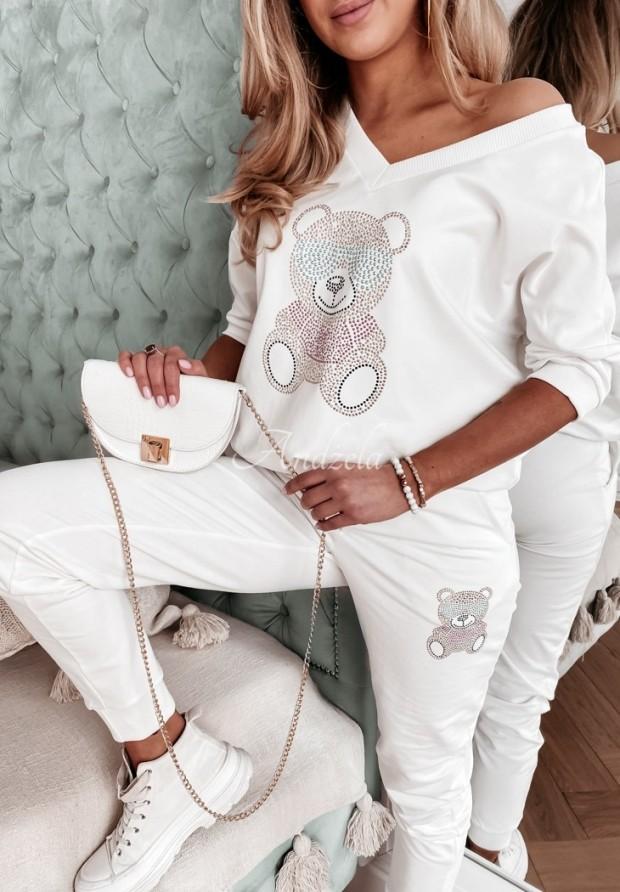 Spodnie Dresowe Teddy Crystal Ecru