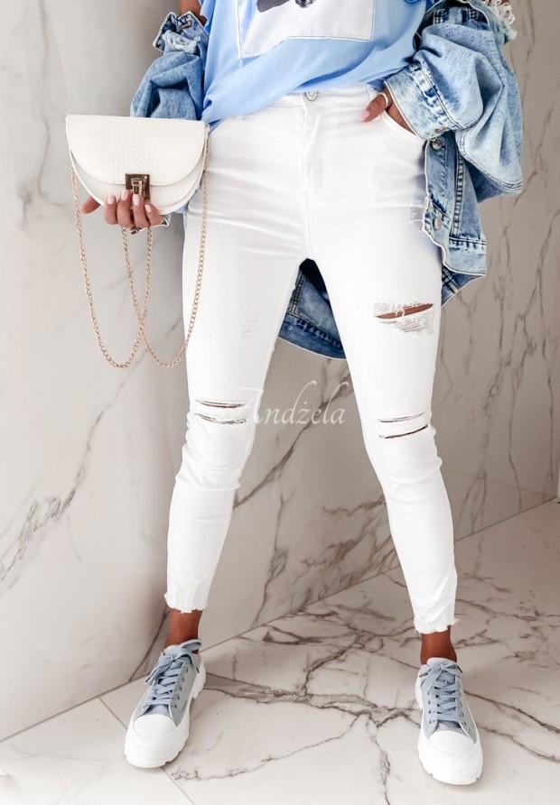 Spodnie Jeans Lortana White