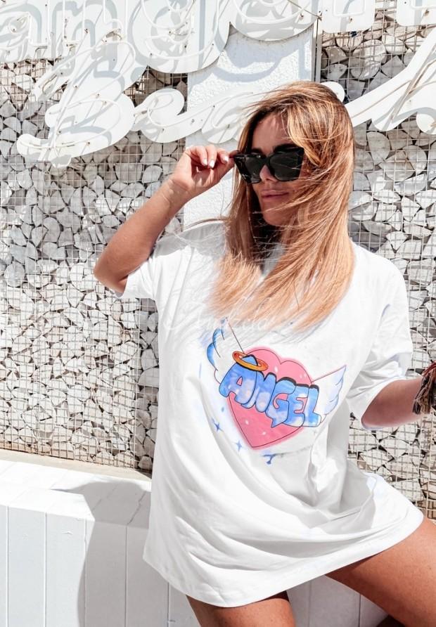 T-shirt Oversize Angels White