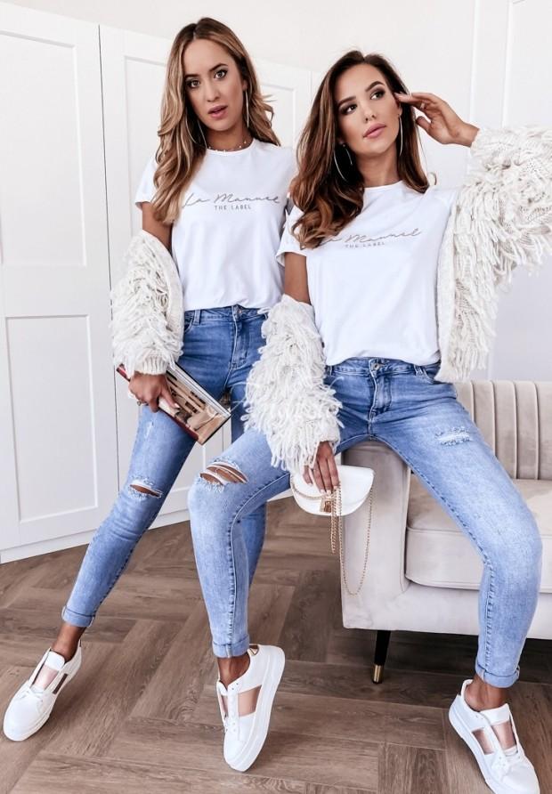T-shirt La Manuel Basic White
