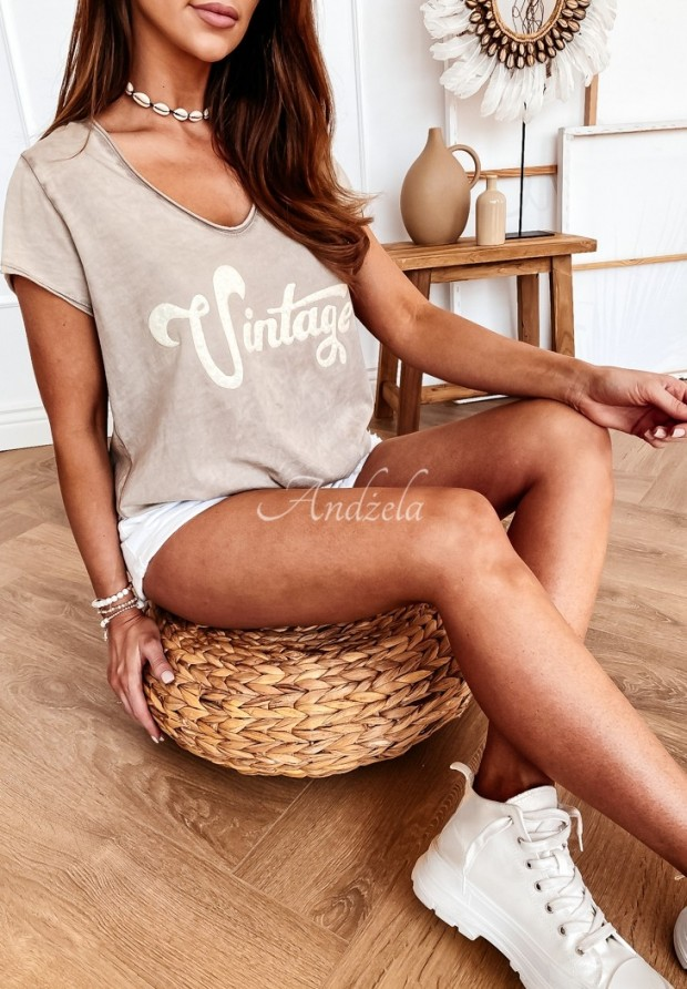 T-shirt Vintage Beige