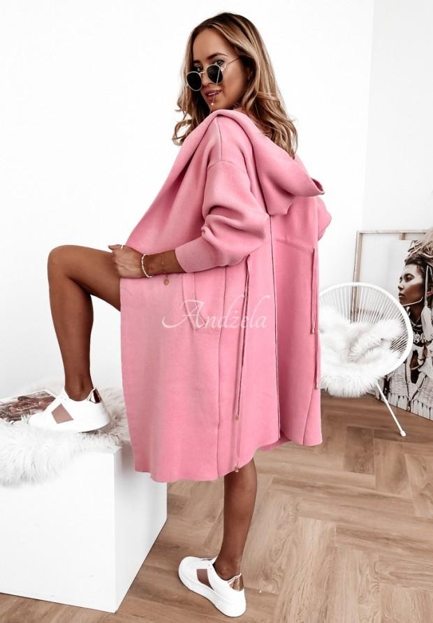 Sweter Kardigan Cocomore Santia Coral Pink