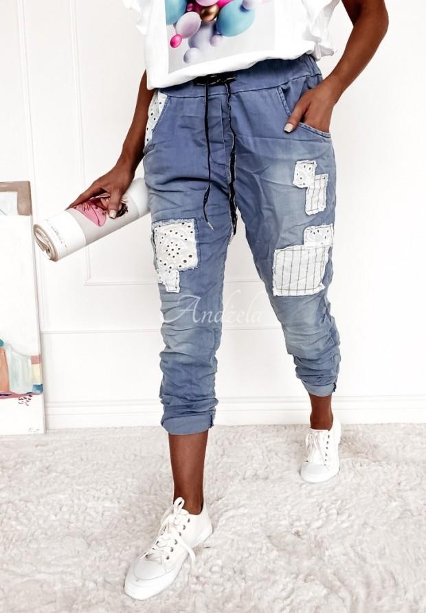 Spodnie Jeans Parches